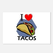 I Love Tacos Postcards (Package of 8)