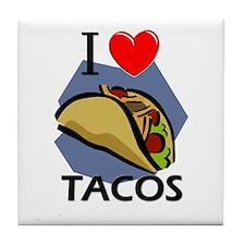 I Love Tacos Tile Coaster
