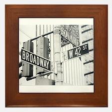 NY Broadway Times Square - Framed Tile