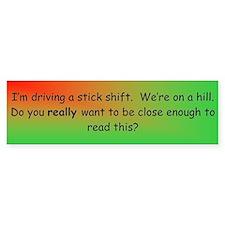 Stick Shift Bumper Car Sticker