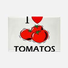 I Love Tomatos Rectangle Magnet