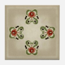 Victorian Roses Tile Coaster