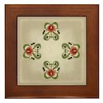Victorian Roses Framed Tile