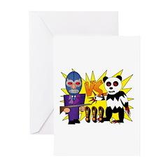 Gilberto vs. Panda Greeting Cards (Pk of 10)