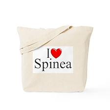"""I Love (Heart) Spinea"" Tote Bag"