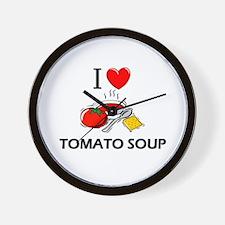 I Love Tomato Soup Wall Clock