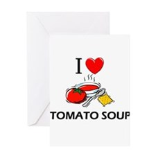 I Love Tomato Soup Greeting Card