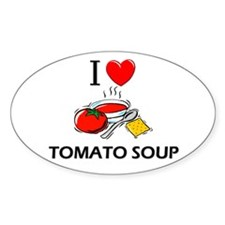 I Love Tomato Soup Oval Decal
