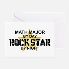 Math Major Rock Star by Night Greeting Cards (Pk o