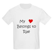 Cute My heart belongs rae T-Shirt