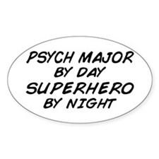 Psych Major Superhero by Night Oval Decal