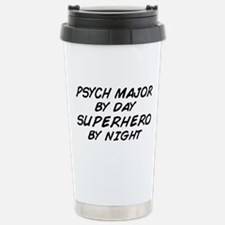 Psych Major Superhero by Night Travel Mug