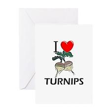 I Love Turnips Greeting Card
