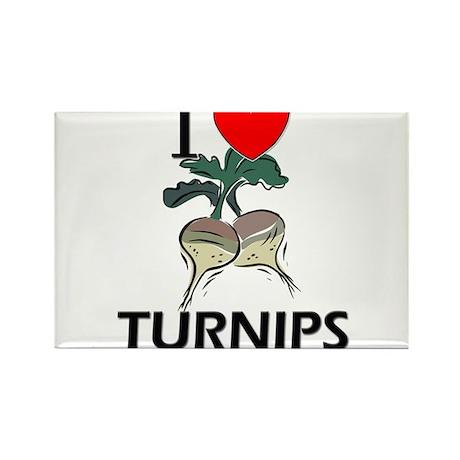 I Love Turnips Rectangle Magnet