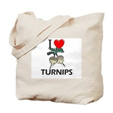 I Love Turnips Tote Bag