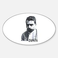 Emiliano Zapata - Portrait Oval Decal