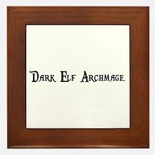 Dark Elf Archmage Framed Tile