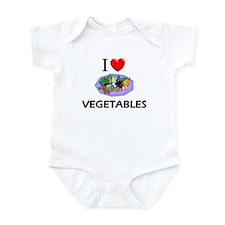I Love Vegetables Infant Bodysuit
