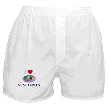 I Love Vegetables Boxer Shorts
