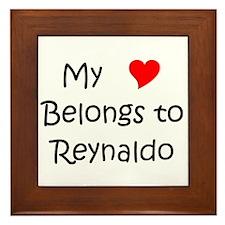 Funny Heart reynaldo Framed Tile