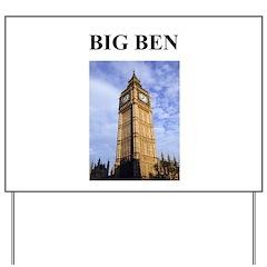 big ben london england gifts Yard Sign