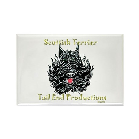 scottish terrier tattoo art rectangle magnet by tailend. Black Bedroom Furniture Sets. Home Design Ideas