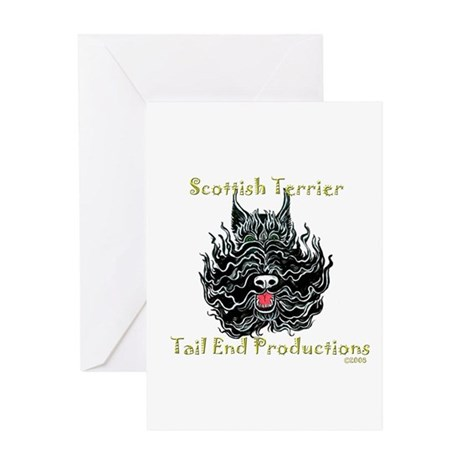 Scottish Terrier Tattoo Art Greeting Card
