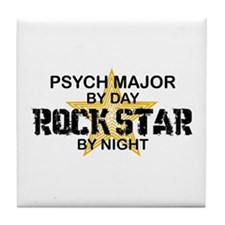 Psych Major Rock Star by Night Tile Coaster