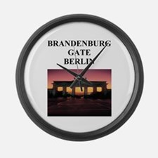 brandenburg gate berlin germa Large Wall Clock