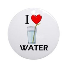 I Love Water Ornament (Round)