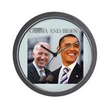 OBAMA & BIDEN Wall Clock