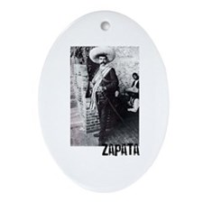 Emiliano Zapata Oval Ornament