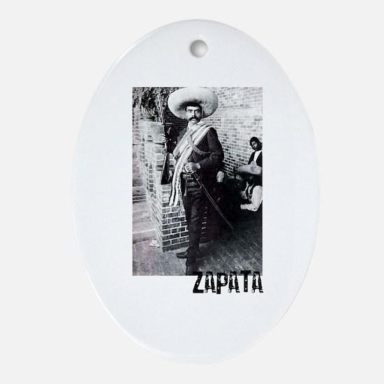 Emiliano Zapata Oval Ornament