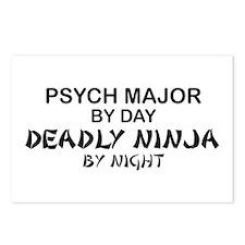 Psych Major Deadly Ninja by Night Postcards (Packa