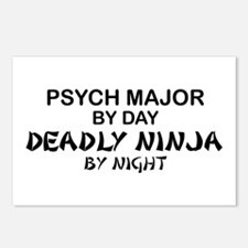 Psych Major Deadly Ninja by Night Postcards (Packa