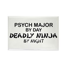 Psych Major Deadly Ninja by Night Rectangle Magnet