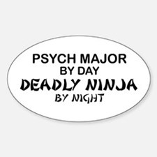Psych Major Deadly Ninja by Night Oval Decal