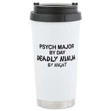 Psych Major Deadly Ninja by Night Travel Mug