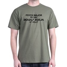 Psych Major Deadly Ninja by Night T-Shirt