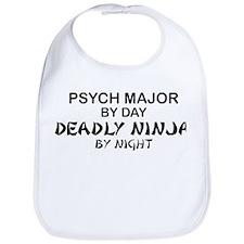 Psych Major Deadly Ninja by Night Bib
