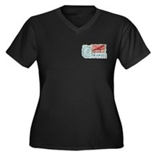 World War Two Air Mail Women's Plus Size V-Neck Da