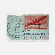 World War Two Air Mail Rectangle Magnet