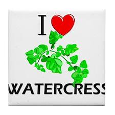 I Love Watercress Tile Coaster