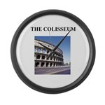 the colisseum rome italy gift Large Wall Clock