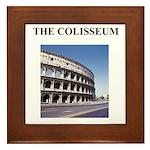the colisseum rome italy gift Framed Tile
