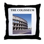 the colisseum rome italy gift Throw Pillow