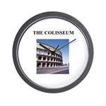 the colisseum rome italy gift Wall Clock