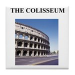 the colisseum rome italy gift Tile Coaster