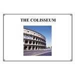 the colisseum rome italy gift Banner