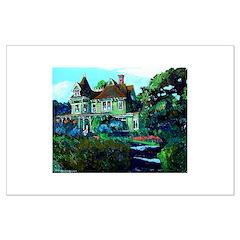 Summer Cottage Large Print